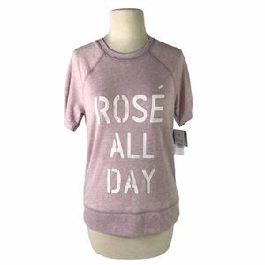 Rose Wine All Day Pink Women's Shirt Small